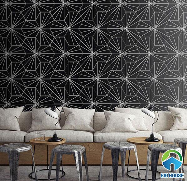 Gạch lục giác A028 ốp trang trí tường phòng khách