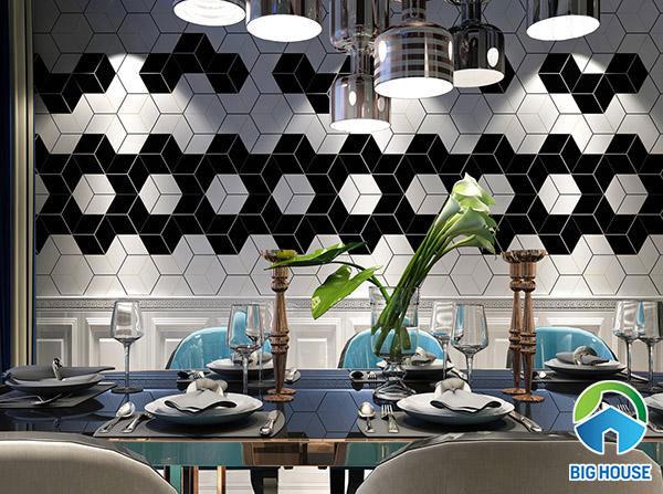 Gạch DS23004 ốp trang trí tường nhà hàng