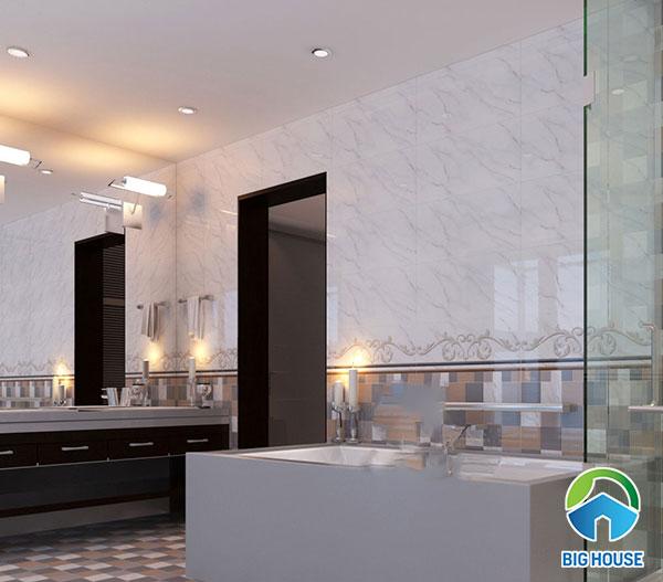 gạch ốp tường 30x60 Viglacera UB3603 màu trắng