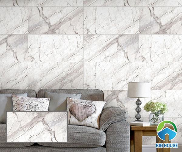 gạch ốp tường 400x800 Prime mã 08895 họa tiết vân đá màu trắng sang trọng