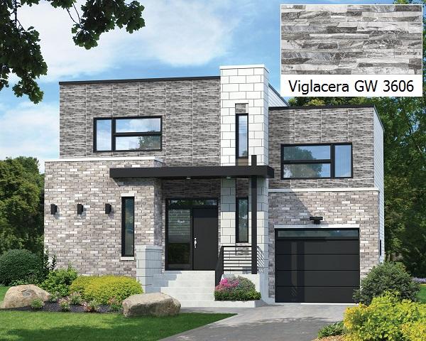 Mẫu gạch Viglacera GW3606 màu xám hiện đại