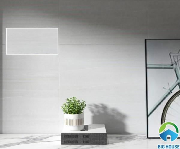 Gạch ốp tường phòng khách Viglacera PLATINUM PL-3641 màu xám trắng