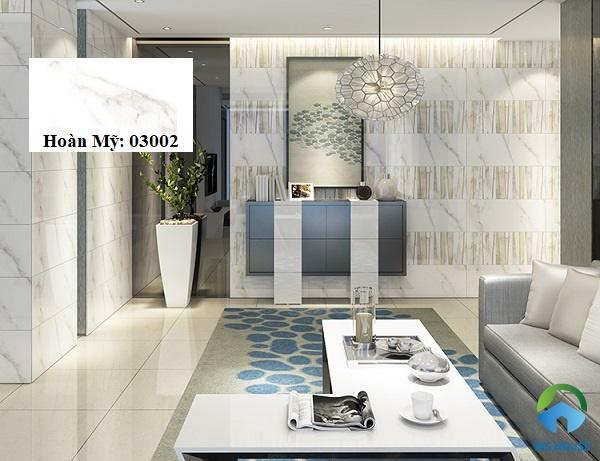 gạch ốp tường phòng khách hoàn mỹ