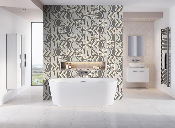 Gạch bông ốp tường nhà tắm