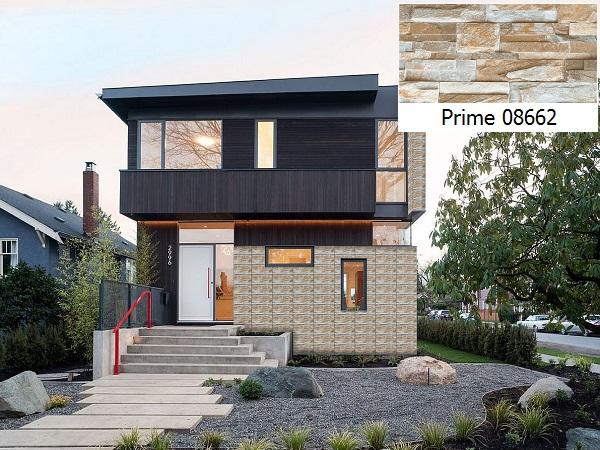Mẫu gạch ốp tường mặt tiền nhà Prime 05.300600.08662 họa tiết đá ghép