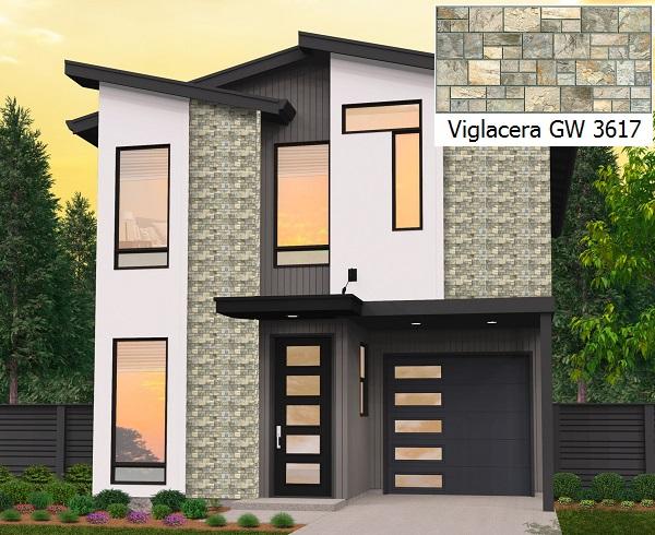 Mẫu gạch ốp tường mặt tiền Viglacera GW 3617