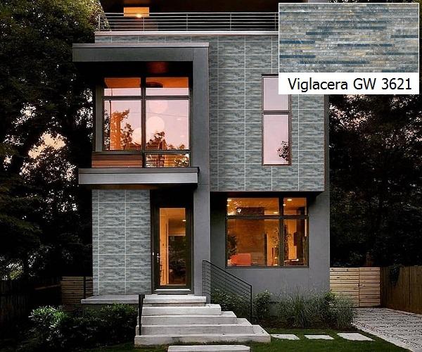Mẫu gạch giả cổ Viglacera GW 3621 gam màu xanh xám