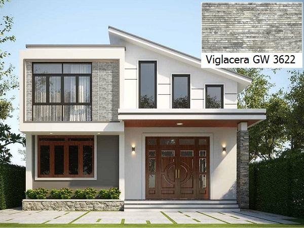 Mẫu gạch ốp mặt tiền 30x60 Viglacera GW 3622 mang vẻ đẹp cổ điển