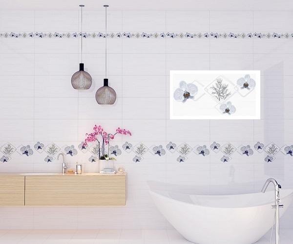Gạch ốp nhà tắm 30x60 Prime 09361 viên điểm họa tiết hoa văn nổi bật