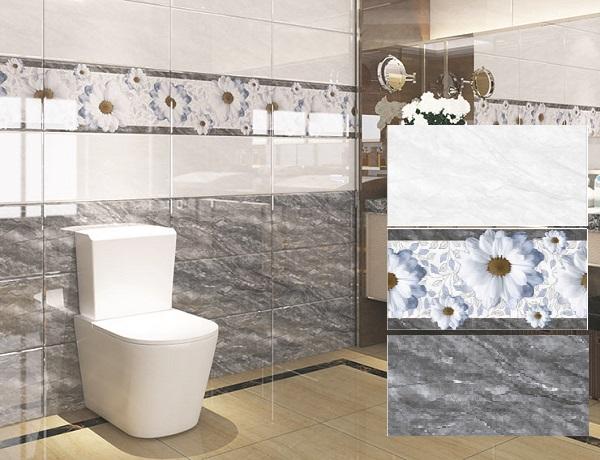 Bộ gạch Hoàn Mỹ 04.01.1719 - 20 - 21 họa tiết vân đá marble sang trọng