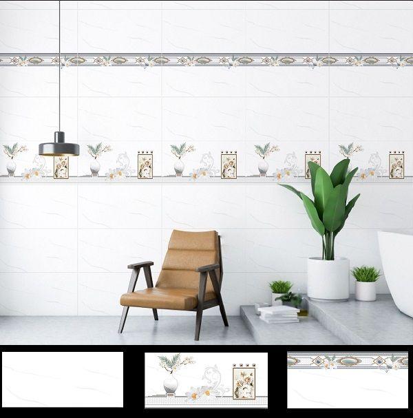 Mẫu gạch ốp tường Ý Mỹ Y36068SL - Y36068SD - Y36068S màu trắng hiện đại