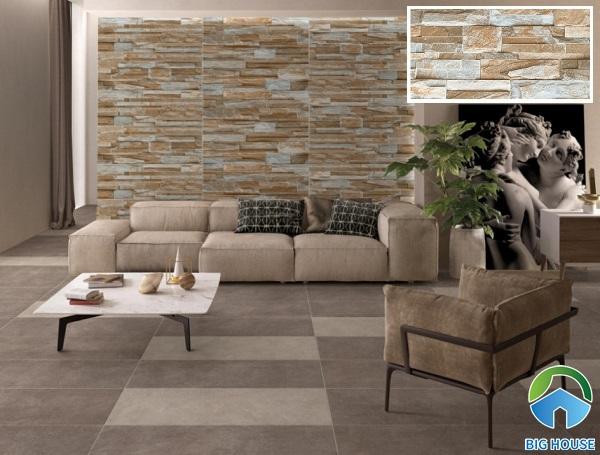 gạch ốp tường giả cổ prime 08662 họa tiết vân đá cho phòng khách đơn giản