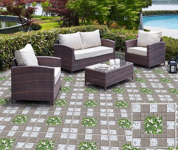 Mẫu gạch Prime 09239 với bề mặt định hình có khả năng chống trơn cực tốt cho sân vườn