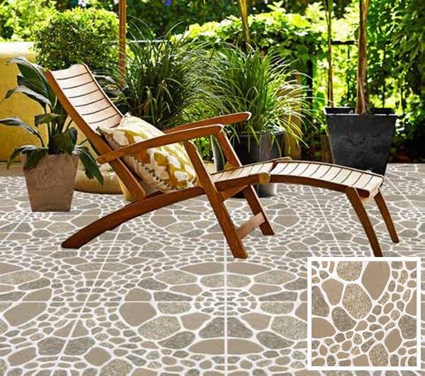Gạch lát sân vườn 40x40 Viglacera mã S411 họa tiết giả đá tự nhiên