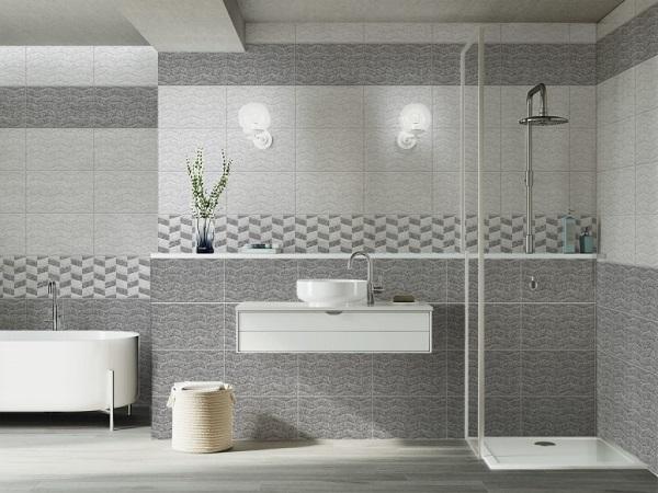 Bộ gạch ốp tường 25x40 prime 02276 gam màu xám trung tính đậm - nhạt