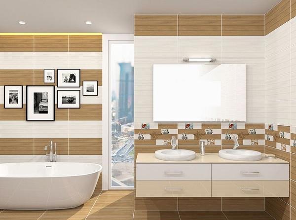 Mẫu gạch ốp tường viglacera bs 3626 cho không gian nhà vệ sinh