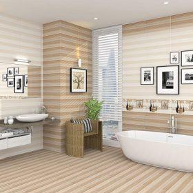Gạch ốp tường sọc ngang: TOP mẫu đẹp, giá rẻ, Hot nhất 2021