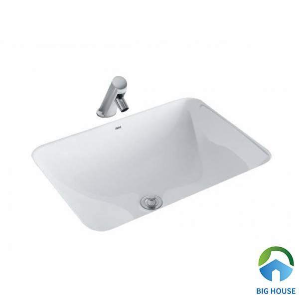 Chậu rửa mặt hình chữ nhật âm bàn Inax L-2298V kiểu dáng đơn giản, tiện lợi