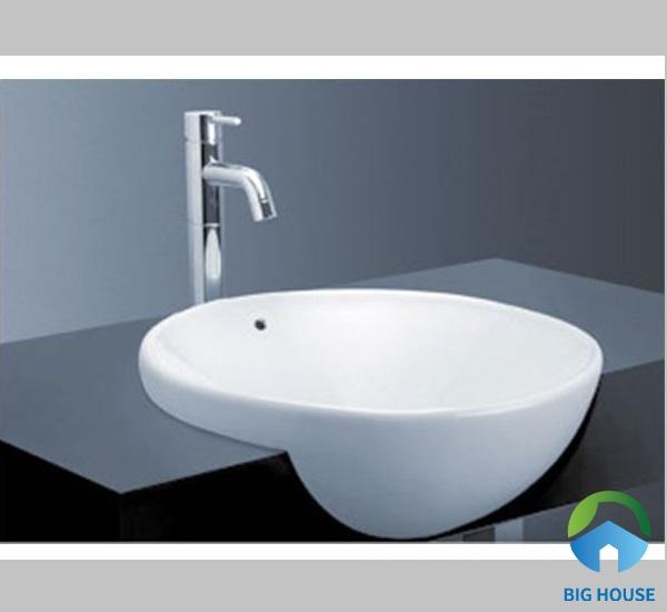 Chậu lavabo bán âm bàn Toto LT533R thiết kế lòng chậu sâu