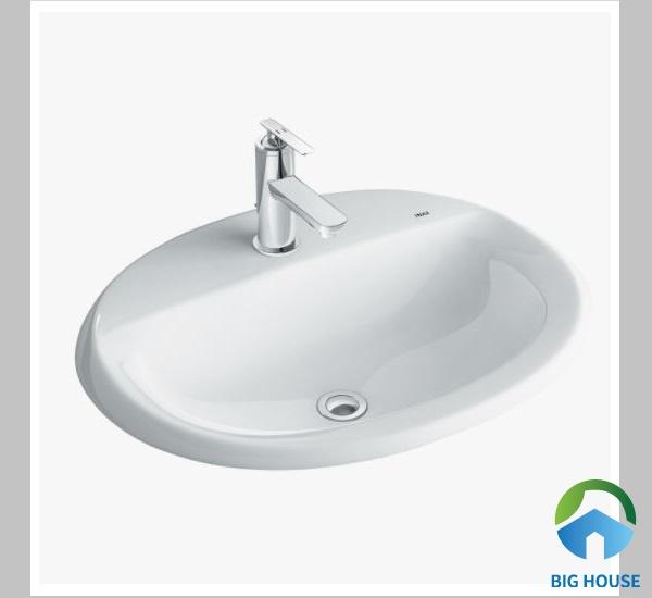 Mẫu chậu rửa mặt hình tròn Inax L2395V bề mặt sáng bóng, dễ dàng vệ sinh