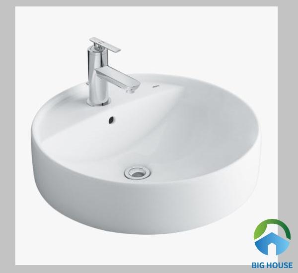 Chậu rửa mặt hình tròn Inax L294V mang kiểu dáng sang trọng, hiện đại