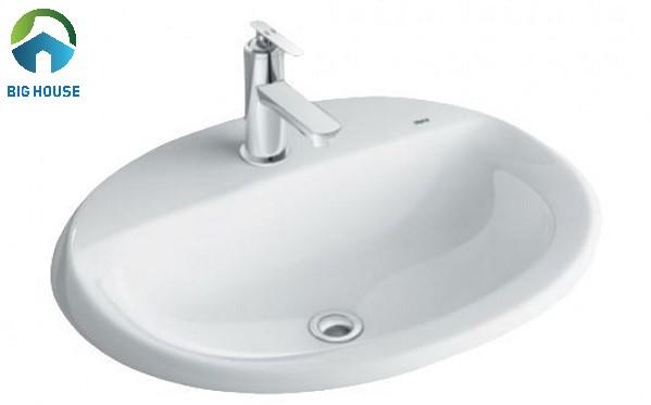 chậu rửa mặt kích thước nhỏ nhất của Inax mã GL-2395V rất nhỏ gọn