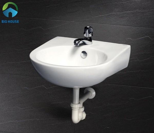 chậu rửa mặt mini Caesar L2140 phù hợp cho phòng tắm có diện tích nhỏ