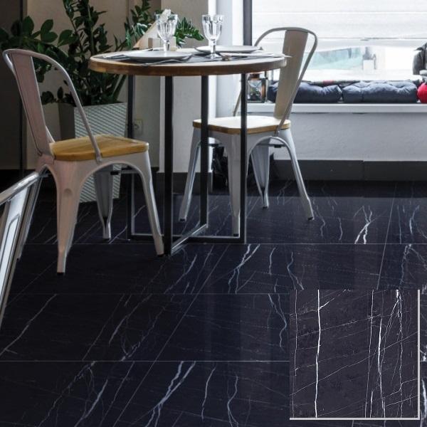 Gạch giả đá màu đen prime 15823 phù hợp lát nền cho không gian diện tích lớn