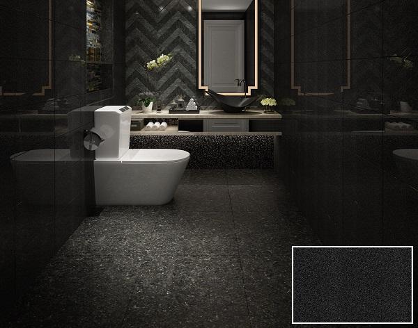 gạch giả đá kim sa Viglacera 2556 màu đen tuyền mang vẻ đẹp lộng lẫy