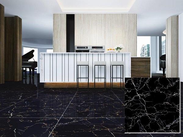 Gạch giả đá màu đen Viglacera Eco D806 sang trọng, hiện đại