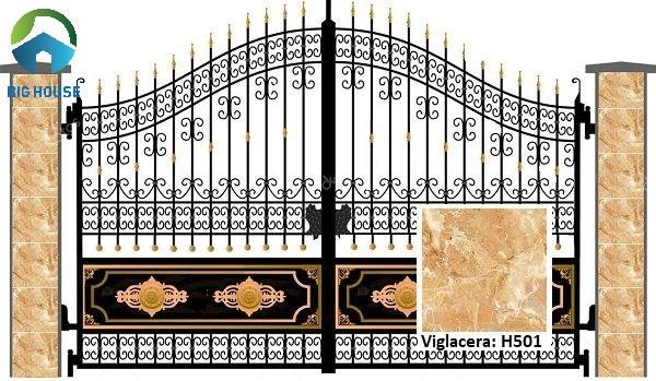 gạch Viglacera 50x50 H501 cho khu vực cổng nhà