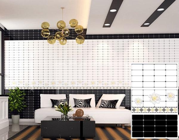 bộ gạch ốp tường phòng khách sammi 30x60 pc3912 họa tiết nổi bật