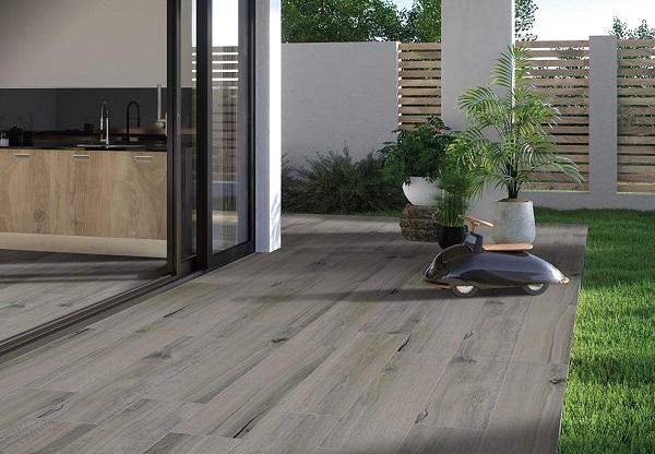 Gạch giả gỗ Viglacera PL 2802 tông màu xám lạnh