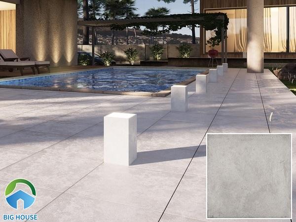 Mẫu gạch Viglacera Crono Stone C1C LG 60x60 lát bể bơi đảm bảo chống thấm cực tốt