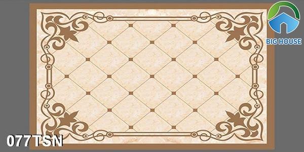 Mẫu gạch thảm 077TSN họa tiết đơn giản nhưng vẫn rất nổi bật