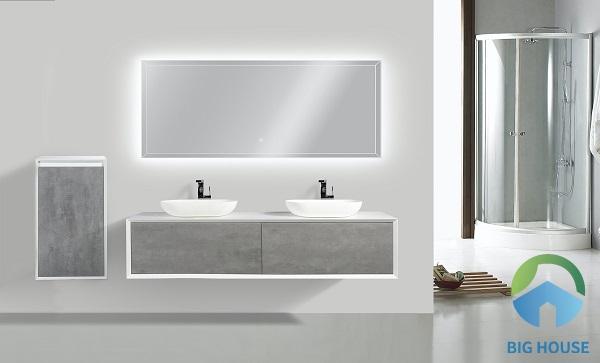 Mẫu lavabo đôi sang trọng cho không gian phòng vệ sinh hiện đại