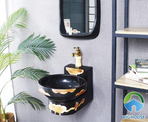 Lắp chậu lavabo với kiểu dáng treo tường