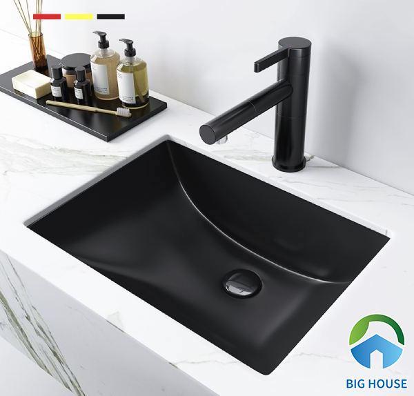 Lắp chậu rửa lavabo với kiểu dáng âm bàn