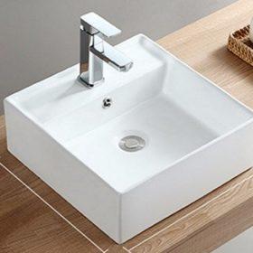 Top mẫu chậu rửa mặt vuông treo tường, đặt bàn,… giá rẻ nhất 2021