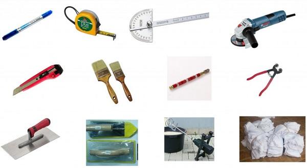 Quy trình thi công gạch mosaic cần chuẩn bị các vật dụng cần thiết