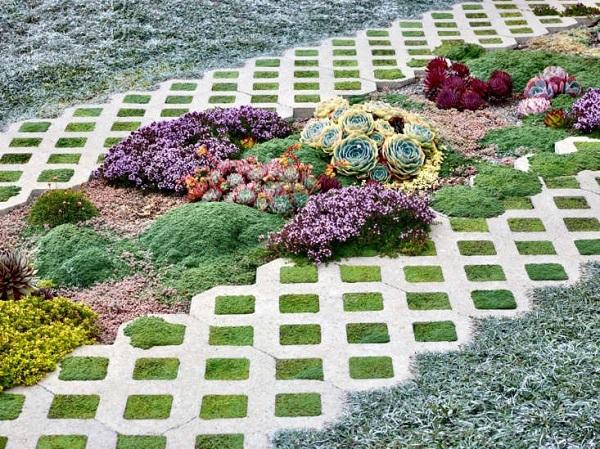 Gạch trồng cỏ 5 lỗ mang vẻ đẹp tự nhiên, chân thực nhất