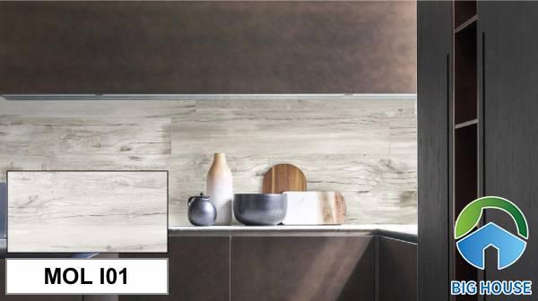 Gạch giả gỗ Eurotile MOL I01 gam màu xám nhạt cổ điển