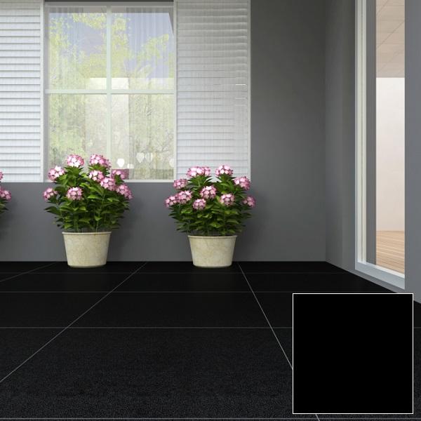 Gạch Granite 600x600 Viglacera PLATINUM CB-L636 tông màu đen sang trọng