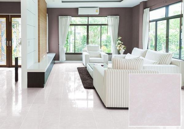 Gạch Granite 600x600 Đồng Tâm 6060PLATINUM002 vân đá hồng nhẹ nhàng