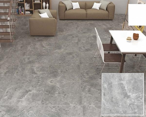 Mẫu gạch lát nền granite 60×60 Prime 03.600600.09006 men mattt xám đơn giản