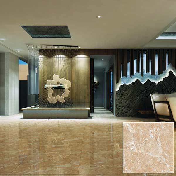 Mẫu gạch granite 600×600 Viglacera TB 602 tông màu vàng đậm, họa tiết vân đá