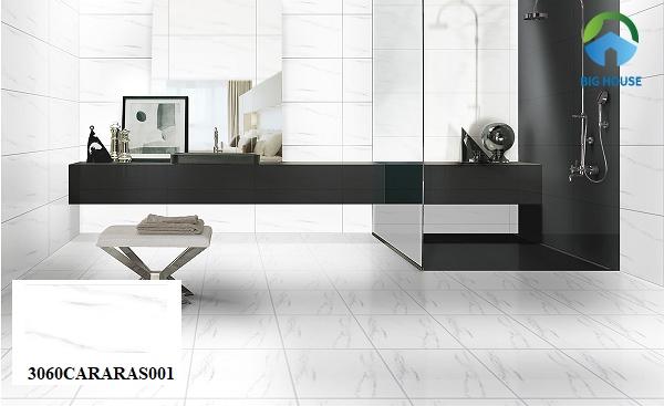 gạch lát nền 30x60 đồng tâm CARARASOO1 họa tiết vân đá sang trọng