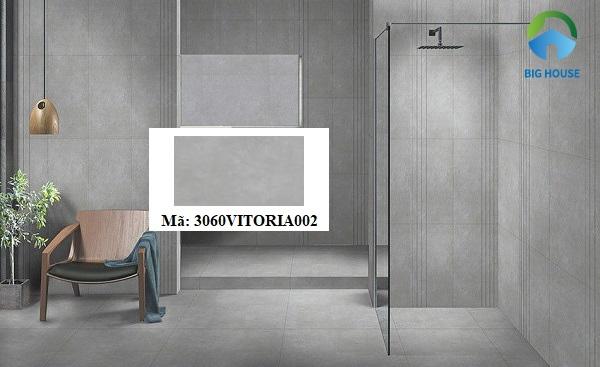 Mẫu gạch lát nền 3060VICTORIA002 với gam màu xám tối giản