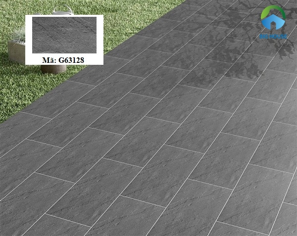 gạch lát nền 30x60 taicera G63128 ứng dụng cho khu vực ngoại thất sân vườn