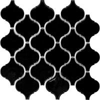 Gạch mosaic màu đen hình đèn lồng